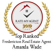 Top Rated Fredericton Real Estate Agent Badge for Amanda Wade verified on 2020-01-24 by Rate-My-Agent.com