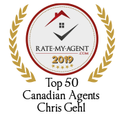 Top 50 Canadian Agent Badge for Chris Gehl verified on 2020-01-24 by Rate-My-Agent.com