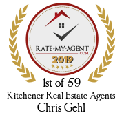 Top Rated Kitchener Real Estate Agent Badge for Chris Gehl verified on 2020-01-24 by Rate-My-Agent.com