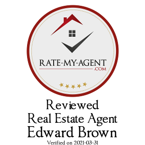 Top Rated Abbotsford Real Estate Agent Badge for Edward Brown verified on 2019-04-05 by Rate-My-Agent.com