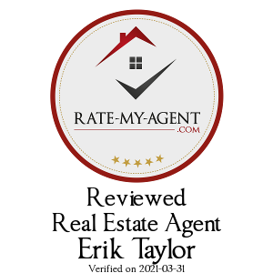 Top Rated Milton Real Estate Agent Badge for Erik Taylor verified on 2019-10-21 by Rate-My-Agent.com