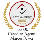 Top 100 Canadian Agent Badge for Marcus Power verified on 2021-01-08 by Rate-My-Agent.com