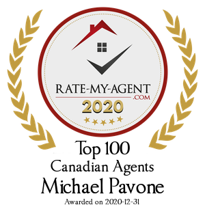 Top 100 Canadian Agent Badge for Michael Pavone verified on 2021-01-19 by Rate-My-Agent.com