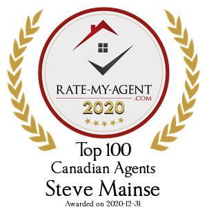 Top 100 Canadian Agent Badge for Steve Mainse verified on 2021-01-08 by Rate-My-Agent.com