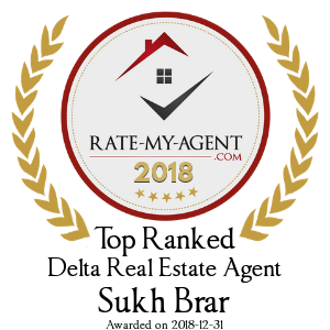 Top Rated Delta Real Estate Agent Badge for Sukh Brar verified on 2018-12-20 by Rate-My-Agent.com