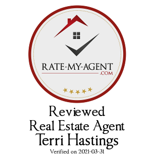 Top Rated Wiarton Real Estate Agent Badge for Terri Hastings verified on 2019-09-26 by Rate-My-Agent.com