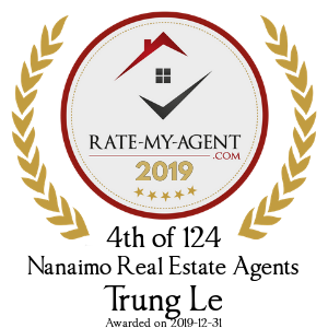 Top Rated Nanaimo Real Estate Agent Badge for Trung Le verified on 2020-01-24 by Rate-My-Agent.com